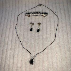 Jewelry - Rhinestone set crystal black